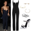 Rihanna: Denim Corset, Frayed Jeans