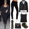 Rihanna: Leather Jacket, Black Jeans