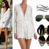 Selena Gomez: Embroidered Romper, Spike Sandals