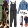 Selena Gomez: Grey Jumpsuit, Denim Jacket