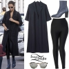 Selena Gomez: Duster Coat, Black Leggings