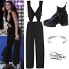 Selena Gomez: Cut-Out Jumpsuit, Lace-Up Boots