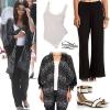 Selena Gomez: Print Kimono, Black Pants