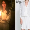 Selena Gomez: White Wrap Dress