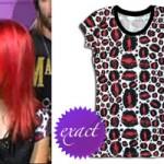 Hayley Williams: Leopard Kiss Print T-Shirt