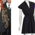 Hayley Williams: Black Wrap Shirt Dress
