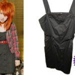 Hayley Williams: Black Button-Front Dress