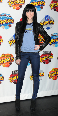 Ashlee Simpson: Indigo Skinny Jeans