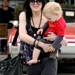 Ashlee Simpson-Wentz out for lunch with her son Bronx - March 13, 2010