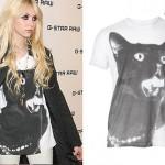 Taylor Momsen: Cat T-Shirt