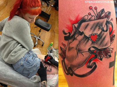 Hayley Williams' envelope tattoo
