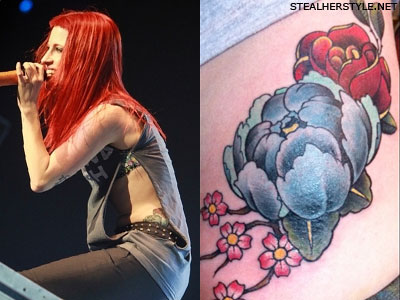 Hayley Williams flower tattoo