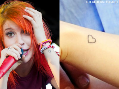 Hayley Williams Heart Tattoo