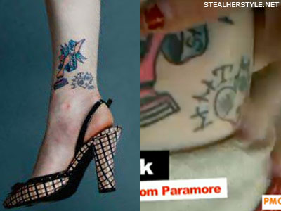 Hayley Williams patched heart tatoo