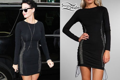 Katy Perry: Lace-Up Dress