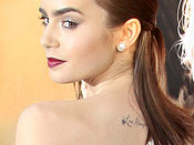 Lily Collins Tattoos