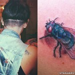 Sierra Kusterbeck fly shoulder tattoo