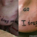 Sierra Kusterbeck i drag my feet tattoo