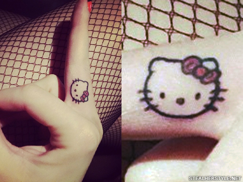 Katy Perry hello kitty tattoo