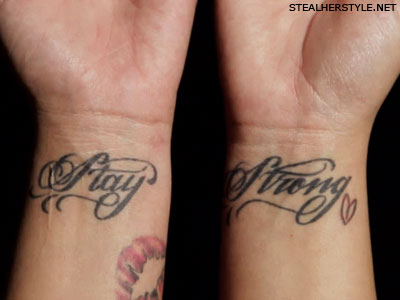 Demi Lovato stay strong tattoos