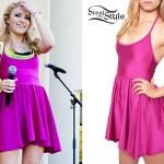 Emily Osment: Hot Pink Dress