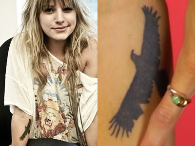 Juliet Simms eagle tattoo