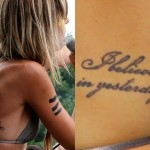 Juliet Simms I Believe in Yesterday tattoo