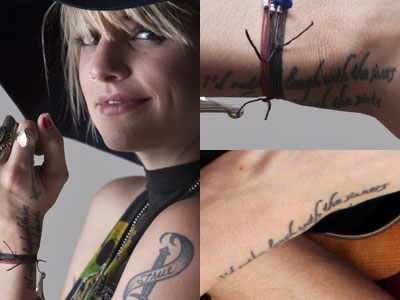 Juliet Simms Billy Joel tattoo