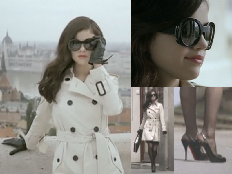 screen captures from Selena Gomez's 'Round and Round' music video