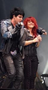 Allison Iraheta and Adam Lambert