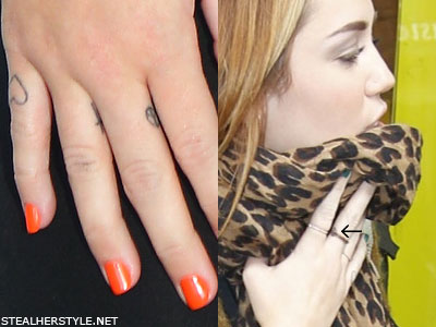 641964d5ba8d2 Miley Cyrus' Tattoos & Meanings | Steal Her Style