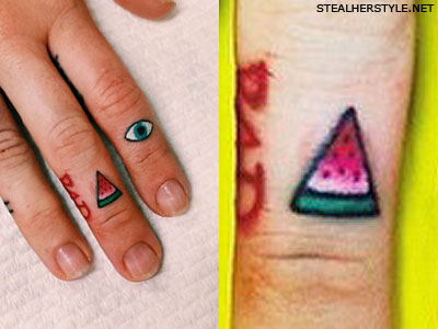 Miley Cyrus watermelon tattoo