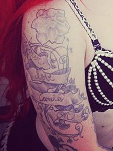 Ash Costello your love carries on tattoo