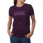 Vans Fall into Heathered Basics Tee in Majesty Purple Heather