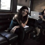 LIGHTS on her tour bus