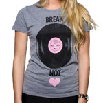 Glamour Kills GIRLS BREAK RECORDS NOT HEARTS TEE
