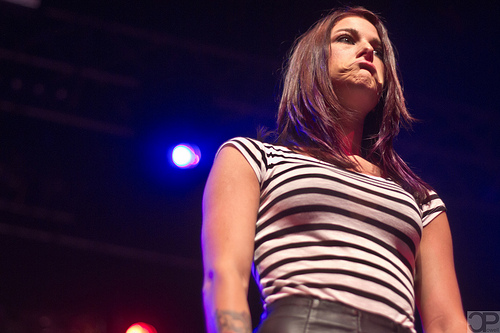 Cassadee Pope: Striped Bodysuit