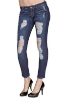 Siwy Hannah Distressed Crop Skinny Jeans in Bluestorm