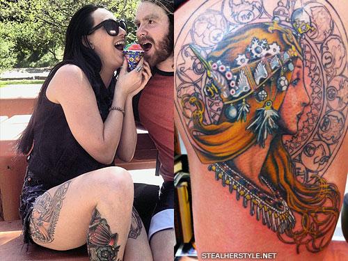 Jacqui Sandell mucha tattoo