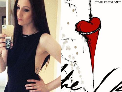 Jacqui Sandell The Used heart tattoo