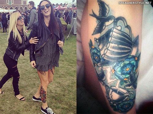 Jacqui Sandell bird teacup tattoo