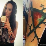 Jacqui Sandell triangle branches tattoo