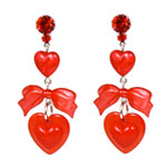 """I Love/Hate/Bleeding Hearts"" Drop Earrings"