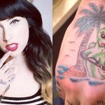Kreayshawn Alien Hand Tattoo