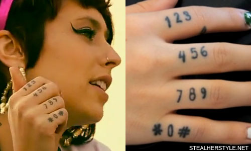 Kreayshawn Phone Number Tattoo