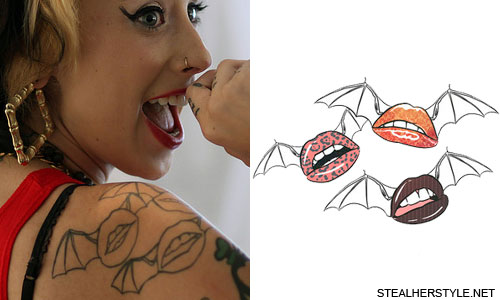 kreayshawn-flying-lips-tattoo