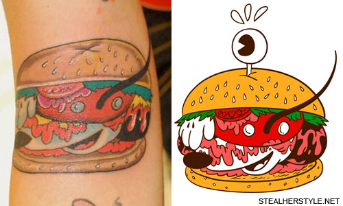 Kreayshawn Mickey Burger Tattoo