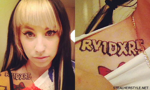 Kreayshawn Oakland Raiders tattoo