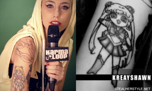Kreayshawn Sailor Moon Tattoo