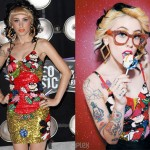 Kreayshawn: Sequin Mickey VMA Dress and Top